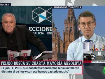 El candidato del PP a la Presidencia de la Xunta, Núñez Feijóo