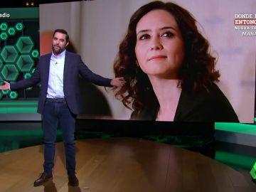 """El 'dardo' de Dani Mateo a la presidenta de la Comunidad de Madrid: """"¿Sabéis la frase de 'pienso luego existo'? Pues Ayuso existe"""""""