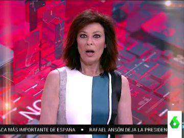 El lapsus de Beatriz Pérez Aranda al quedarse paralizada dando una noticia