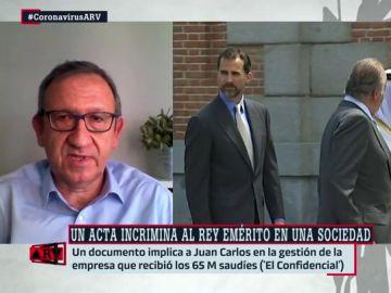 El presidente del sindicato de Técnicos de Hacienda, Carlos Cruzado.