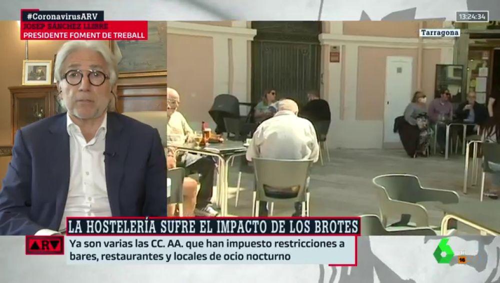 El presidente de Foment de Treball, Josep Sánchez Llibre