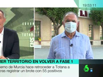 """El alcalde de Totana afirma que el aumento de contagios es """"escalofriante"""": """"Ha fallado la responsabilidad de los ciudadanos"""""""