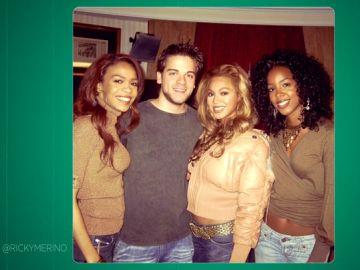 El día que Ricky conoció a Beyoncé: esta es su sorprendente fotografía con 20 años junto a Destiny's Chil