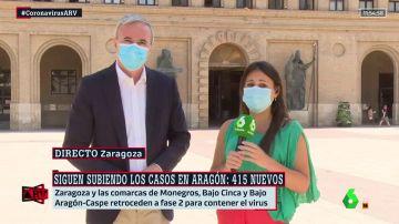 """El alcalde de Zaragoza, preocupado ante el aumento de casos: """"La Atención Primaria puede desbordarse"""""""
