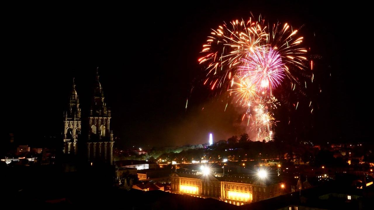 Así se celebra el Día de Santiago: sin fuegos en el Obradoiro y con cita previa