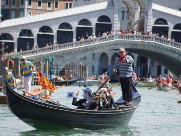Una góndola en Venecia