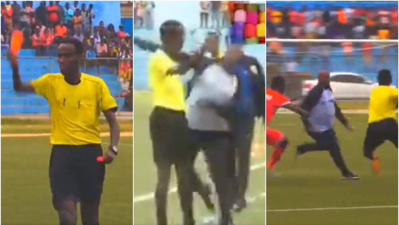 Un entrenador de Somalia pierde los papeles y ataca a los árbitros