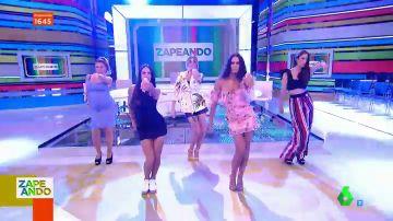 Las chicas de Zapeando arrasan en pleno plató con la coreografía más viral de TikTok