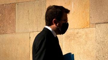 El vicepresidente de la Generalitat, Pere Aragonés