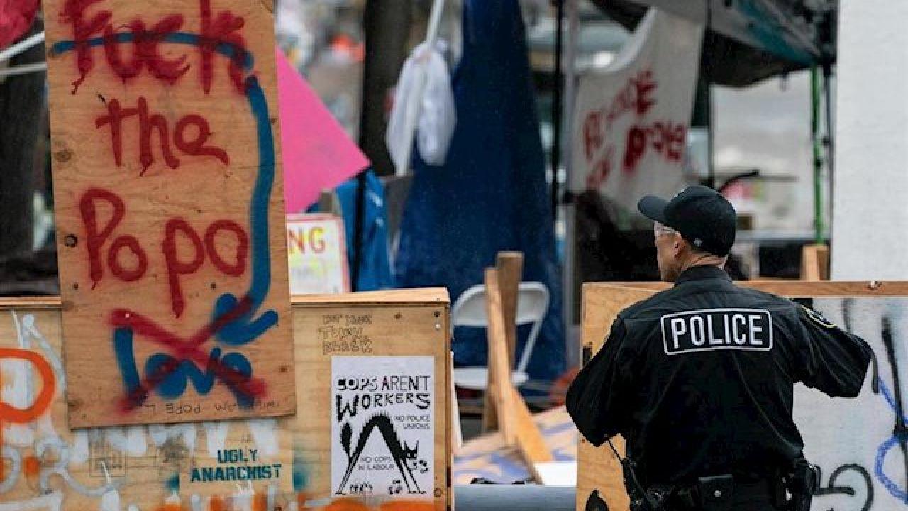 Manifestaciones en Seattle