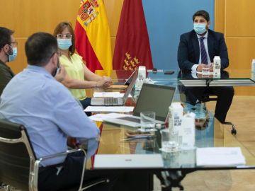 Reunión del comité de seguimiento del COVID-19 en Murcia
