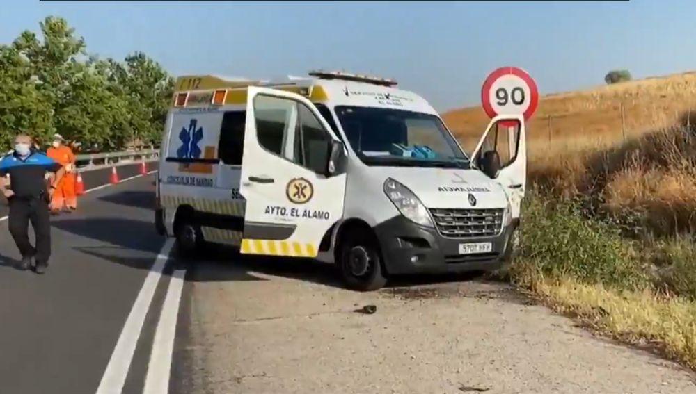 Punto de la carretera de El Álamo en el que se encontraron los cuerpos