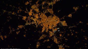 Imagen nocturna de Madrid