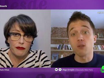 Thais Villas entrevistó por videollamada a Íñigo Errejón en El Intermedio