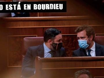 Santiago Abascal e Iván Espinosa de los Monteros en el Congreso