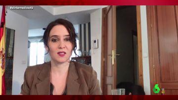 Vídeo manipulado - El momento en el que un extraño entra en casa de Ayuso en plena videollamada