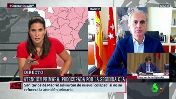 """Escudero responde a las protestas de los médicos de atención primaria: """"Madrid tiene una red de rastreadores adaptada a los casos"""""""