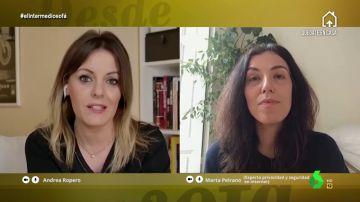 Andrea Ropero ha entrevistado a través de una videollamada en El Intermedio a Marta Peirano