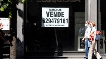Un local comercial en venta en Bilbao, debido a las crisis social y económica derivada del covid 19.