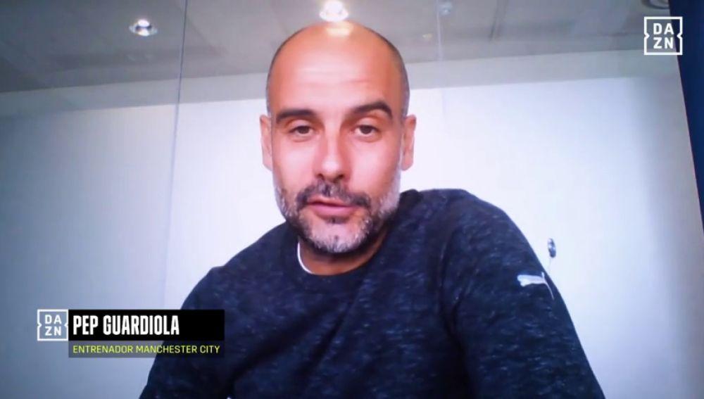 """Pep Guardiola: """"Me alegro mucho que le vayan bien las cosas a Zidane, me hubiera gustado jugar con él"""""""