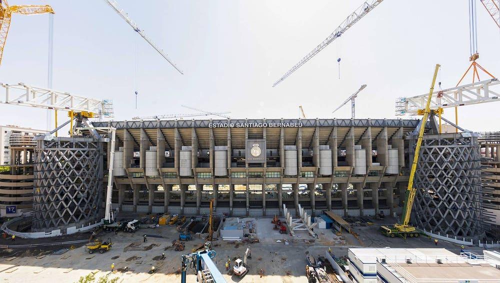 Estado actual de las obras del estadio Santiago Bernabéu