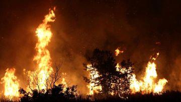 Imagen del incendio en Ourense