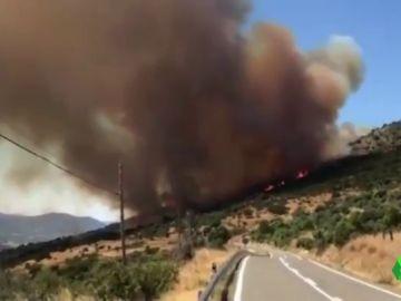 Imagen del incendio en Robledo de Chavela
