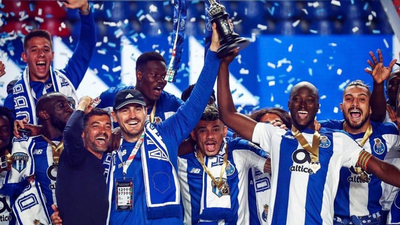 Iker Casillas, en la celebración de la Taça de Portugal