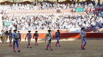 Corrida en la Plaza de Toros de Huelva