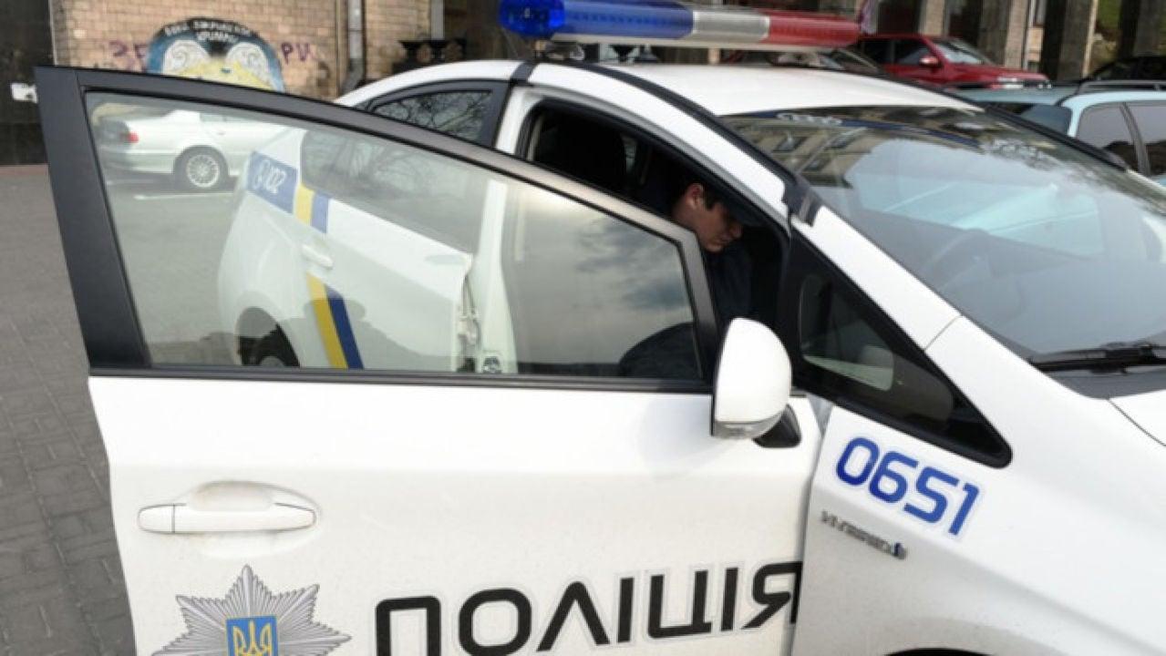 Coche policía en Kiev