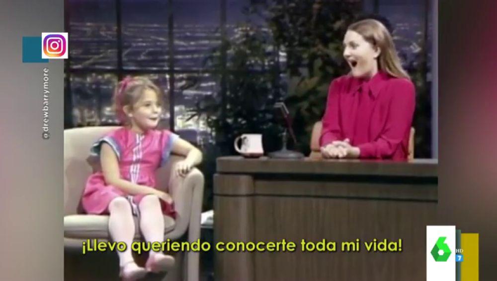 """La divertida entrevista de Drew Barrymore a sí misma con siete años: """"¡Llevo toda la vida queriendo conocerte!"""""""