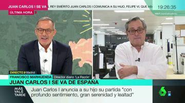 """Marhuenda defiende la decisión del rey de marcharse de España: """"Hay una cacería contra él, no se puede defender"""""""