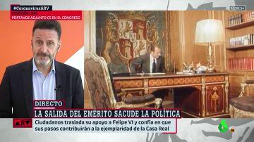 """Bal acusa a Podemos de """"oportunista"""" por sus críticas a Juan Carlos I: """"Felipe VI siempre va a tener el apoyo de Cs"""""""