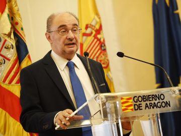 El presidente, Javier Lambán, en una imagen de archivo
