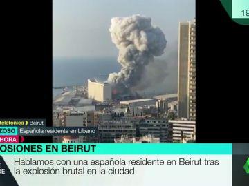 """Habla una superviviente española a la explosión de Beirut: """"He salido corriendo y el guardia de mi trabajo estaba en el suelo"""""""