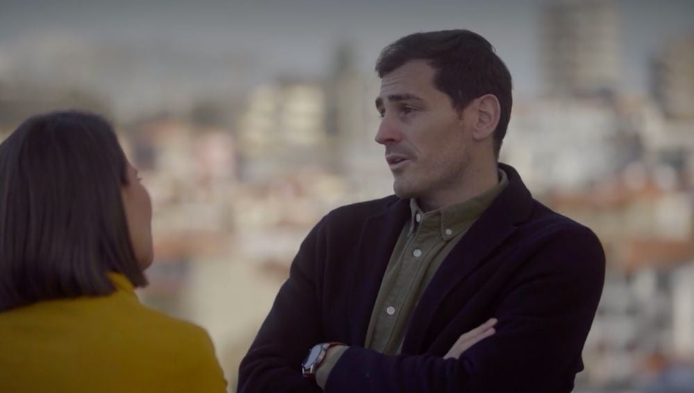 Íker Casillas, con Ana Pastor