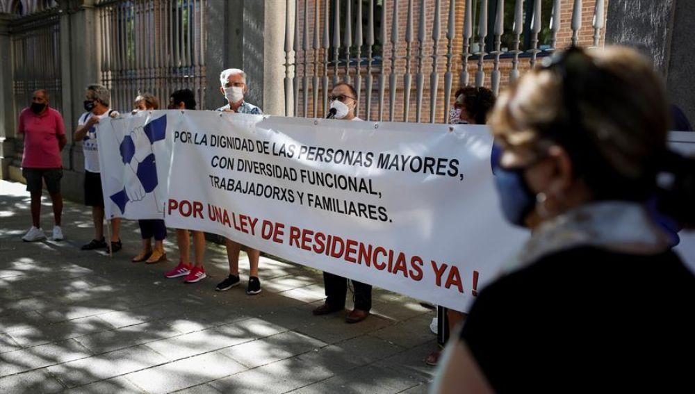 Concentración de la Marea de Residencias en Madrid