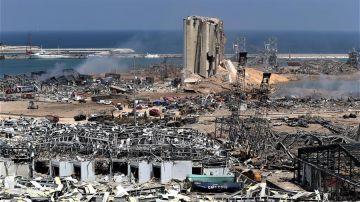 Vista general del estado en el que ha quedado el epicentro de la explosión.