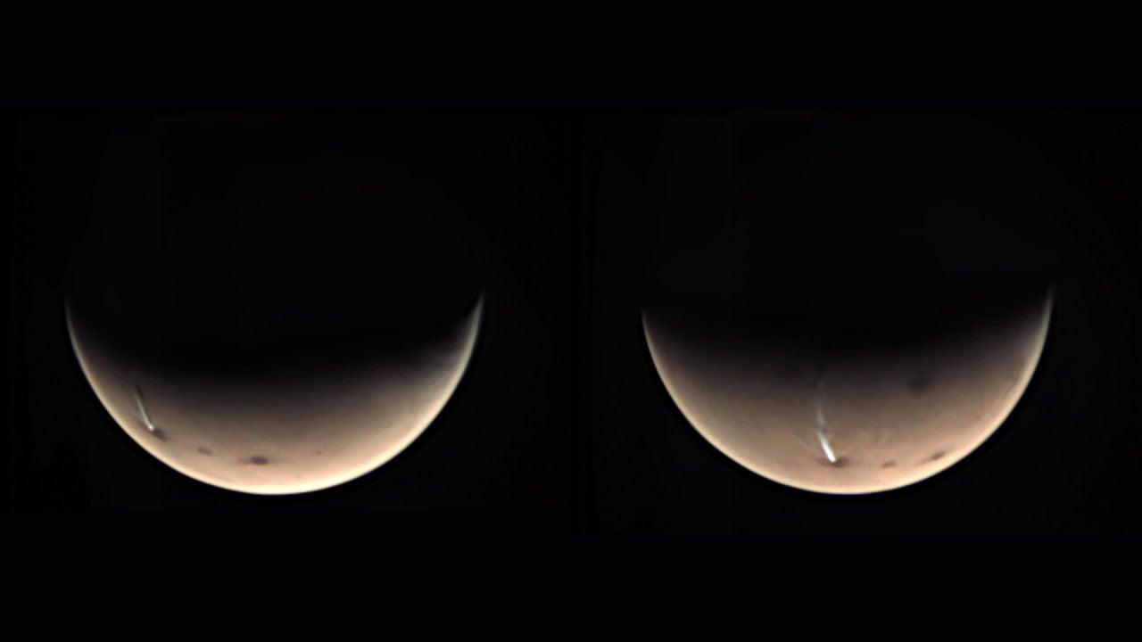 La misteriosa nube alargada en Marte que los científicos no consiguen explicar