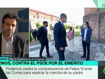 El presidente del grupo de Unidas Podemos en el Congreso, Jaume Asens
