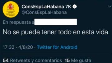 """La polémica respuesta del Consulado de España en la Habana a una consulta: """"No se puede tener todo"""""""