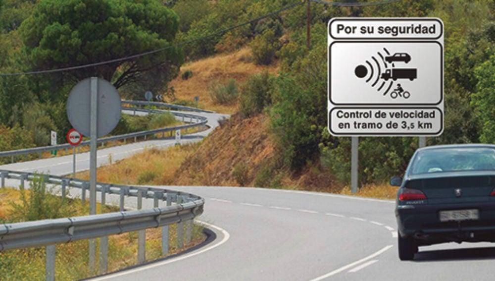 Un aviso de radar de tramo