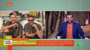 La divertida entrevista a los compositores Mau y Ricky: así han conseguido promocionar su nuevo tema en Zapeando