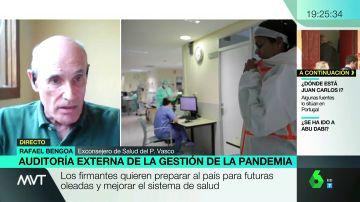 """Rafael Bengoa: """"España no tiene todas las herramientas para no tener problemas de confinamiento total en otoño"""""""