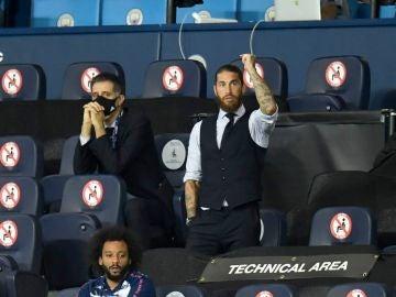 Sergio Ramos, en el Etihad
