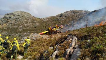 Un hidroavión se estrella en Ourense