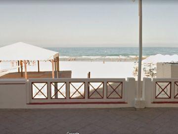 Playa de la Victoria, en Cádiz