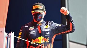 Max Verstappen celebra una victoria
