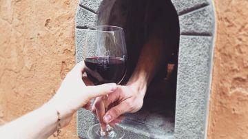 Una 'ventana del vino' en la ciudad de Florencia