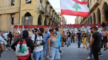 Protesta en Beirut, Líbano